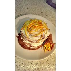 Тортик из овсяных оладьев
