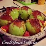 Печеные яблочки в апельсином