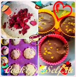 Творожные кексы с шоколадным кремом