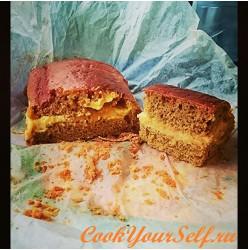 Кекс/торт с заварным кремом