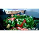 Легкий салат с мидиями