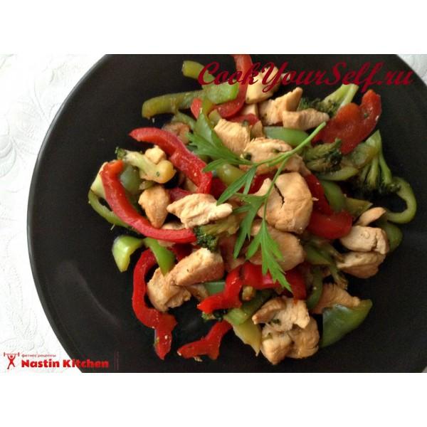 Блюдо курица по китайски