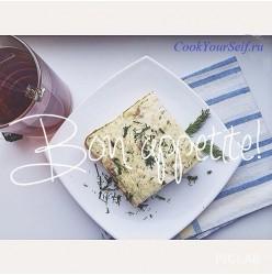 Пирог из куриного филе и цветной капусты