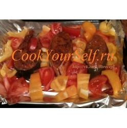 Кета в томатно-кунжутном соусе