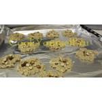 Творожно - овсяные печеньки с орехами