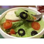 Суфле из брокколи с сырно-соевым соусом
