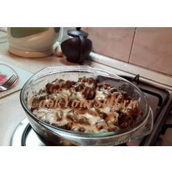 Индюшачьи желудки с сыром и  грибами