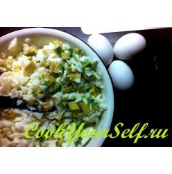Белковый салат с авокадо