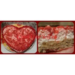 Торт творожно-малиновый