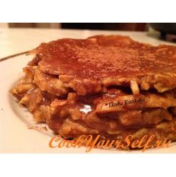 Протеиново-овсяный мини-тортик с яблоком